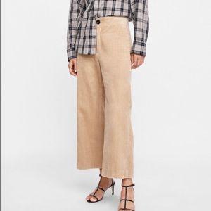 Zara corduroy culottes